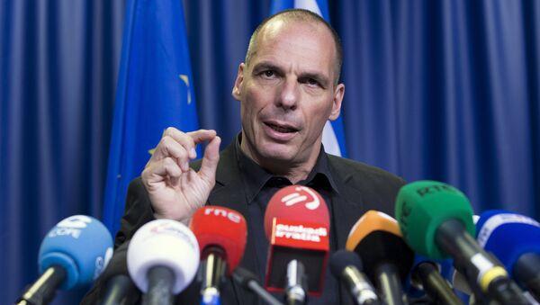 Yanis Varoufakis, ministro de finanzas de Grecia, en Bruselas, Bélgica, el 27 de junio, 2015 - Sputnik Mundo