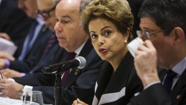 Dilma Rousseff, presidenta de Brasil, en Nueva York, EEUU, el 29 de junio, 2015 - Sputnik Mundo