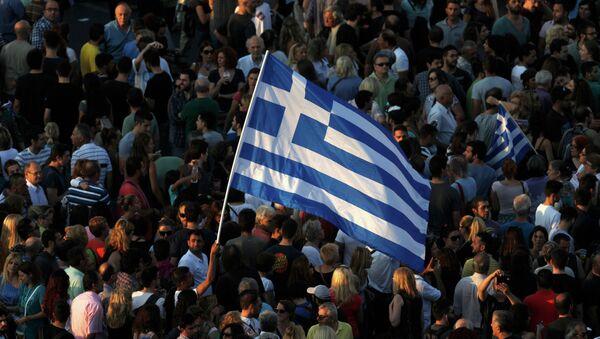 Protestas en Atenas, la capital de Grecia - Sputnik Mundo