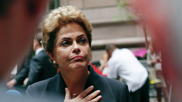Dilma Rousseff, la presidenta de Brasil, en Nueva York - Sputnik Mundo