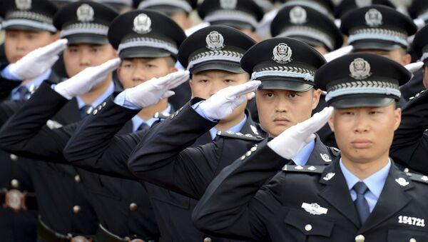 Policía de China en Chenzhou (archivo) - Sputnik Mundo