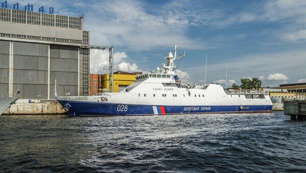 Un buque patrullero del tipo Ojótnik (Cazador en ruso) (Archivo) - Sputnik Mundo