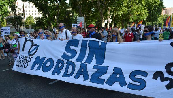 Miles de personas protestan en España contra la Ley Mordaza - Sputnik Mundo