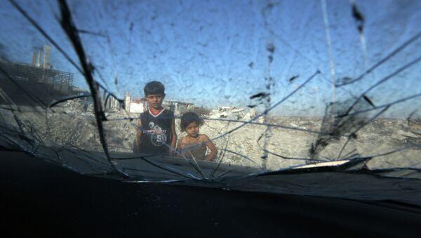 Niños en Gaza - Sputnik Mundo