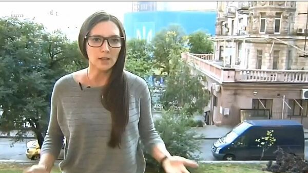 Alexandra Cherepniná, reportera del Canal 1 ruso - Sputnik Mundo