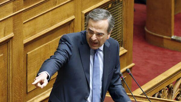 Antonis Samaras, líder del partido opositor Nueva Democracia - Sputnik Mundo