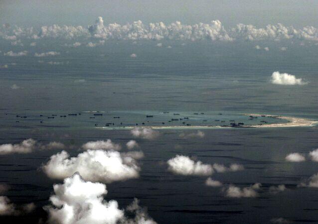 Una de las islas del archipiélago Spratley en el Mar del Sur de China