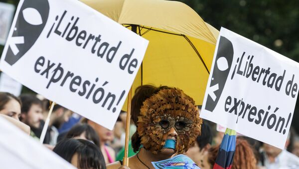 Protestas contra la Ley Mordaza - Sputnik Mundo