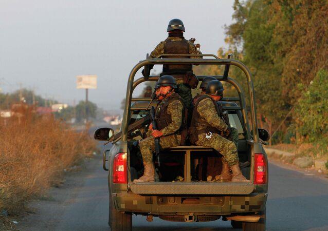 Soldados del ejército mexicano