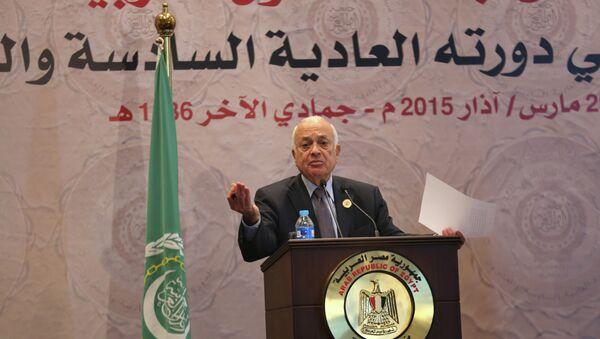 El secretario general de la Liga, Nabil al Arabi - Sputnik Mundo