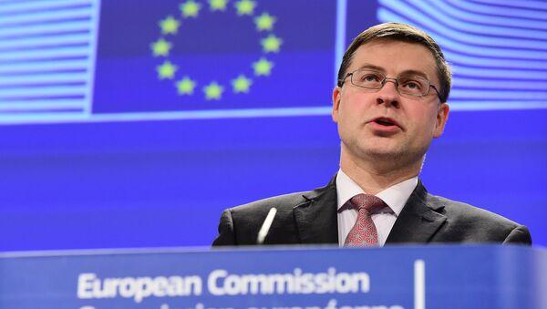 Vicepresidente de la Comisión Europea, Valdis Dombrovskis - Sputnik Mundo