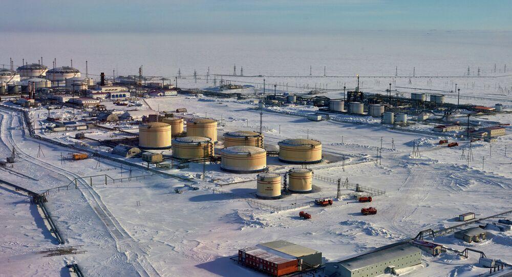 Plataforma petrolera del mar de Pechora