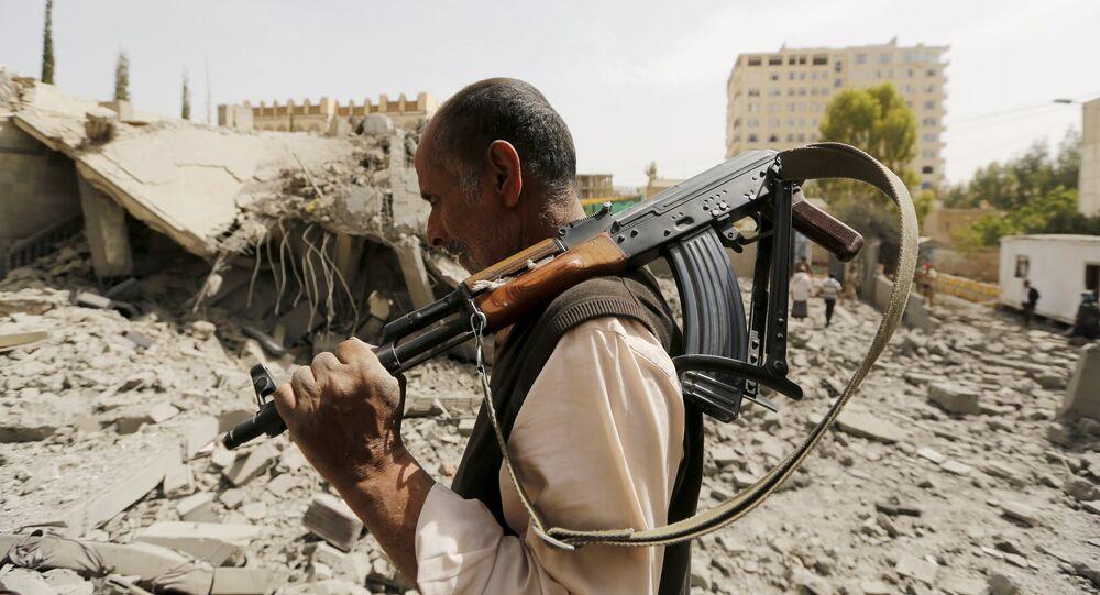 Guardia en Saná, Yemen, el 15 de junio, 2015