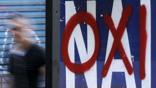 Las intenciones del no y el sí empatan en Grecia - Sputnik Mundo