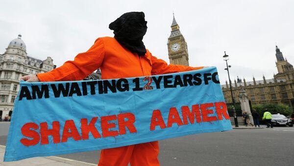 Protesta contra la detención de Shaker Aamer en London (archivo) - Sputnik Mundo