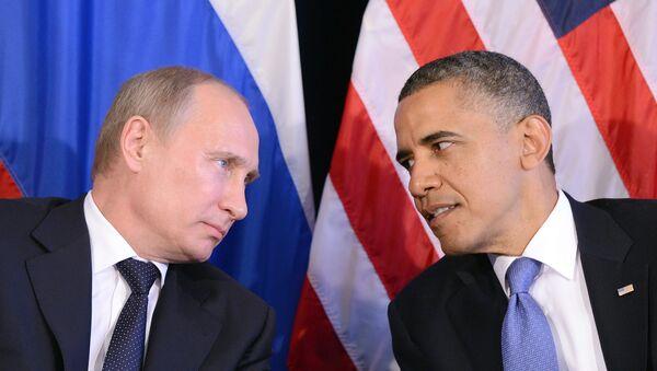 Presidente de Rusia, Vladímir Putin (izda.) y presidente de EEUU, Barack Obama - Sputnik Mundo