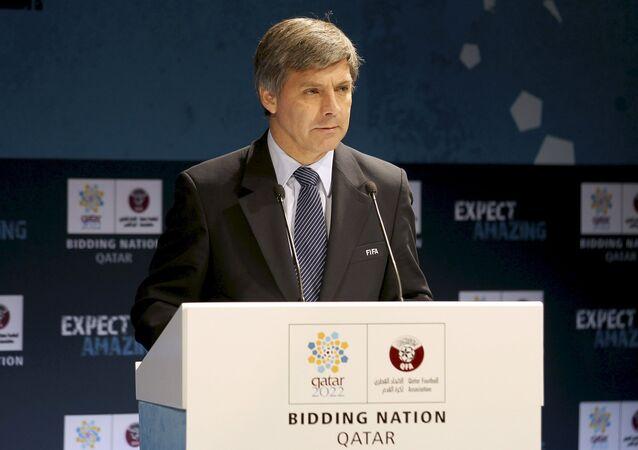 Harold Mayne-Nicholls, jefe de evaluación de las candidaturas de los mundiales de 2018 Rusia y 2022 Qatar y expresidente de la Asociación Nacional de Fútbol Profesional de Chile