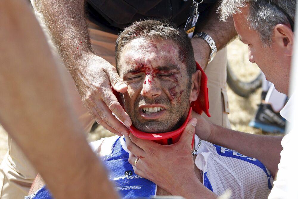 El herido deportista francés William Bonnet