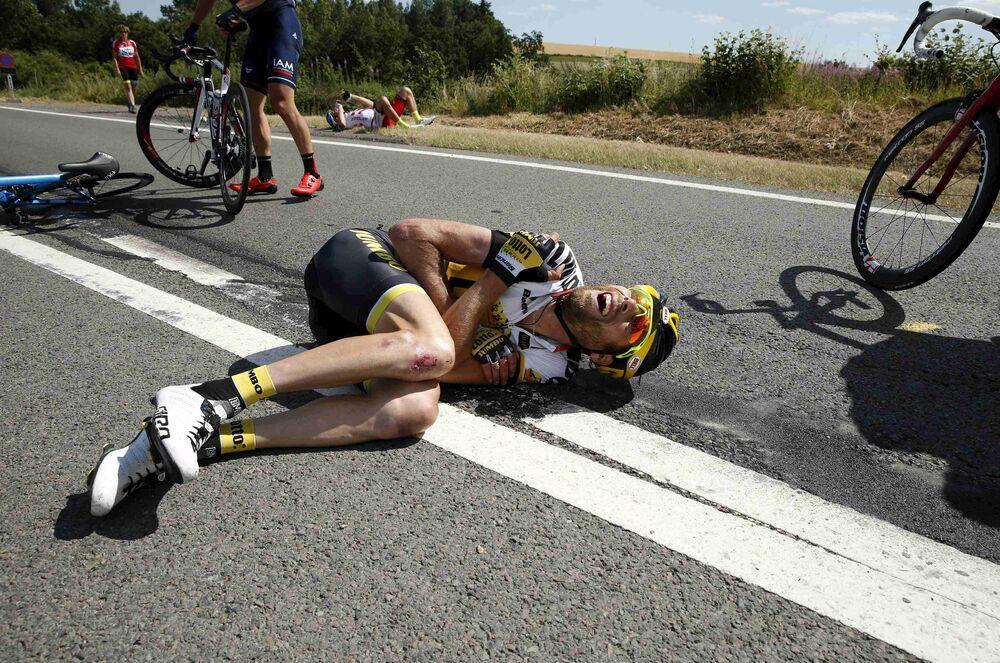 El neerlandés Laurens ten Dam herido en el accidente