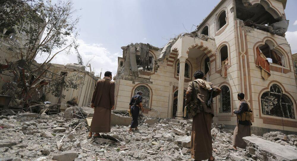 Situación en Saná después de los bombardeos