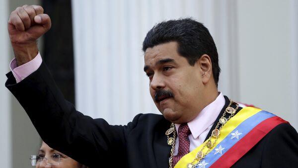 Nicolás Maduro, presidente de Venezuela, en la Asamblea Nacional en Caracas, el 6 de julio, 2015 - Sputnik Mundo