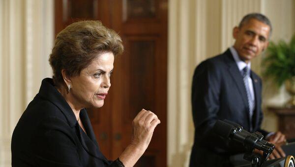 Dilma Rousseff y Barack Obama - Sputnik Mundo