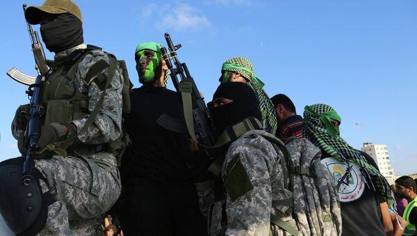 Militantes de Hamás en Gaza - Sputnik Mundo