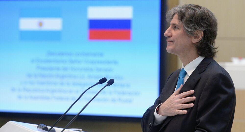 Amado Boudou, vicepresidente de Argentina, el 8 de julio, 2015