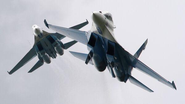 Cazas Su-27 rusos - Sputnik Mundo