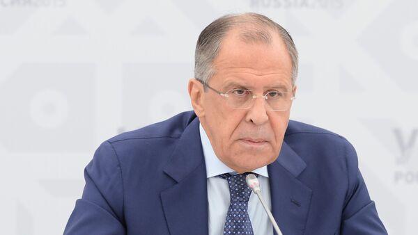 Serguéi Lavrov, ministro de Asuntos Exteriores de Rusia, el 9 de julio, 2015 - Sputnik Mundo