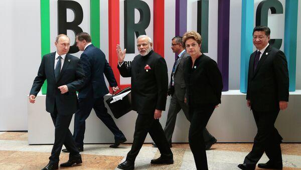 Los líderes del BRICS - Sputnik Mundo