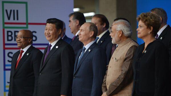 Participantes de la reunión de los jefes de estados de BRICS - Sputnik Mundo