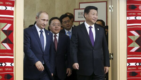 Presidente de Rusia, Vladímir Putin, y presidente de China, Xi Jinping - Sputnik Mundo