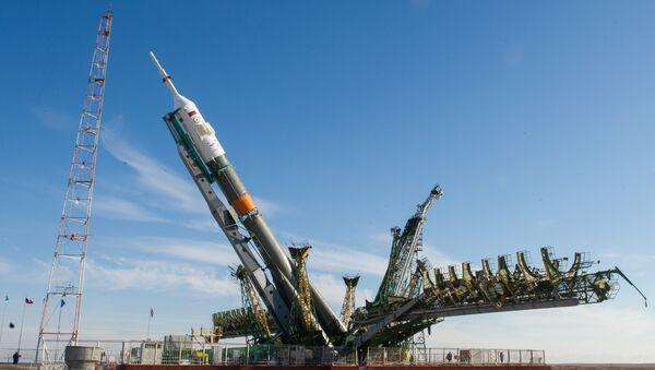 Cohete Soyuz-FG en el cosmódromo de Baikonur - Sputnik Mundo