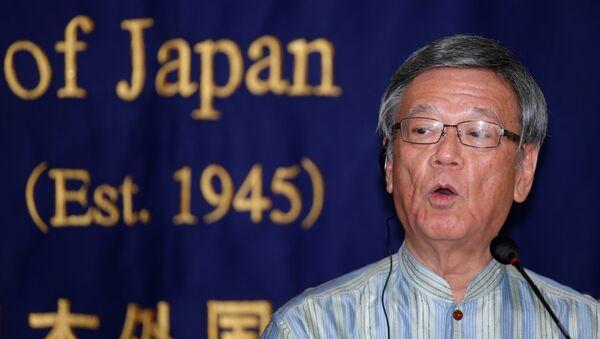 Takeshi Onaga, gobernador de la prefectura japonesa de Okinawa (Archivo) - Sputnik Mundo