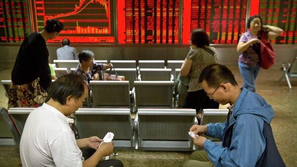 Una bolsa en China - Sputnik Mundo