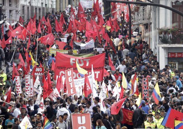 En Ecuador no hay diálogo con el gobierno, dice dirigente opositor