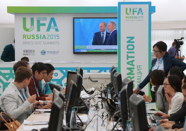 Centro de Prensa en Ufá