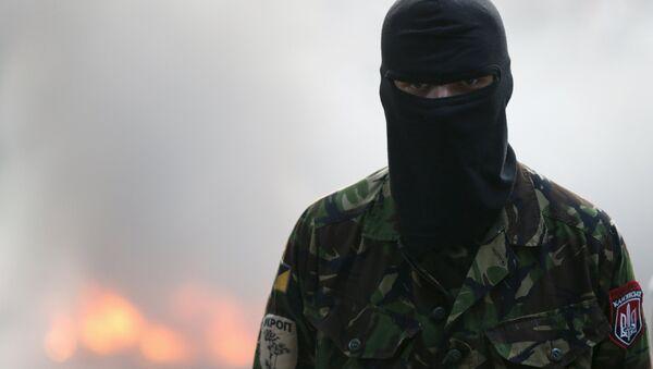 Militante del movimiento Pravy Sektor (archivo) - Sputnik Mundo