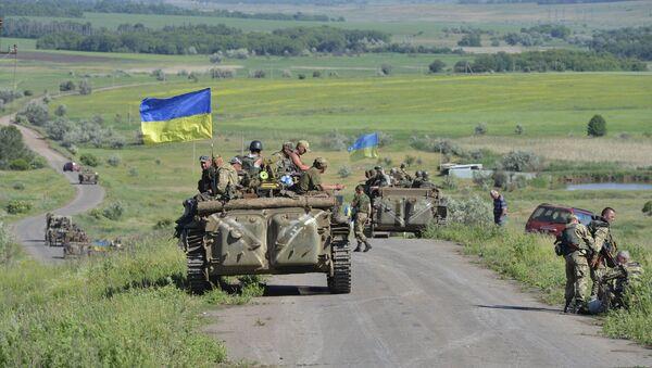 Members of the Ukrainian armed forces outside Artemivsk, Donetsk region, Ukraine - Sputnik Mundo