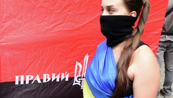 Mitin del grupo radical Pravy Sektor en Kiev - Sputnik Mundo