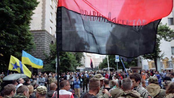 Partidarios del grupo radical ucraniano Pravy Sektor - Sputnik Mundo