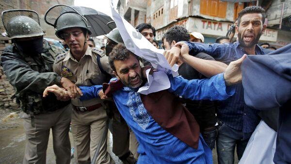 Manifestación en Cachemira - Sputnik Mundo
