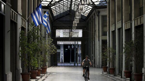 Almacénes cerrados por los problemas financieros en Atenas, Grecia, el 12 de julio, 2015 - Sputnik Mundo