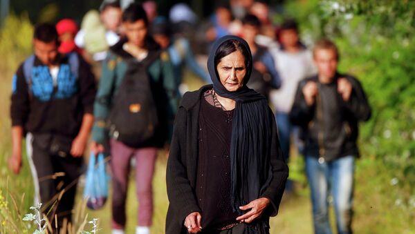 Migrantes afganos cruzan la frontera de Serbia a Hungría - Sputnik Mundo