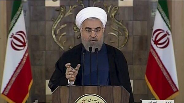 Captura de pantalla del discurso de Hasán Rohani,14 de julio, 2015 - Sputnik Mundo