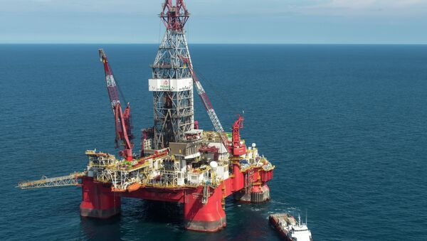 Plataforma petrolífera de Pemex en Golfo de México - Sputnik Mundo