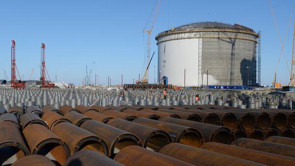 Construcción de la empresa de la producción del gas natural licuado en Yamalia-Nenetsia, Rusia - Sputnik Mundo
