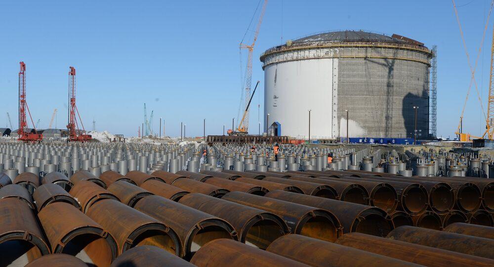 Construcción de la planta de gas natural licuado Yamal (archivo)