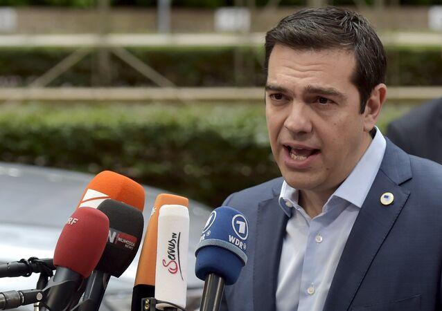 Alexis Tsipras, primer ministro de Grecia, en Bruselas, Bélgica, el 12 de julio, 2015